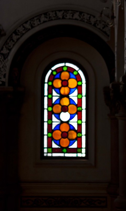 Painted Glass Window in Magen David Synagogue - Kolkata, India