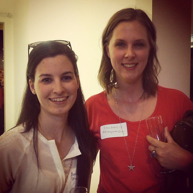 I finally got to meet the amazing @hillarywith2ls tonight at the Top 30 Vancouver Mom Blogger Celebration. It was 1000 degrees inside, I won a gift certificate to Art Knapps and I basically used Hillary as my security blanket (introverts unite!). It was s