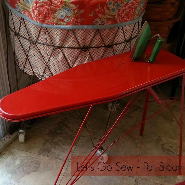 pat sloan vintage ironing board