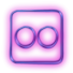 114115-glowing-purple-neon-icon-social-media-logos-flickr-square