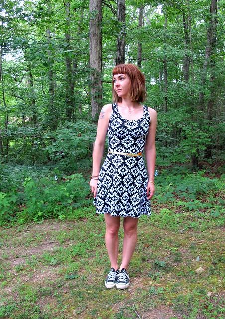 Knit tank dress