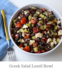 Greek Salad Lentil Bowl