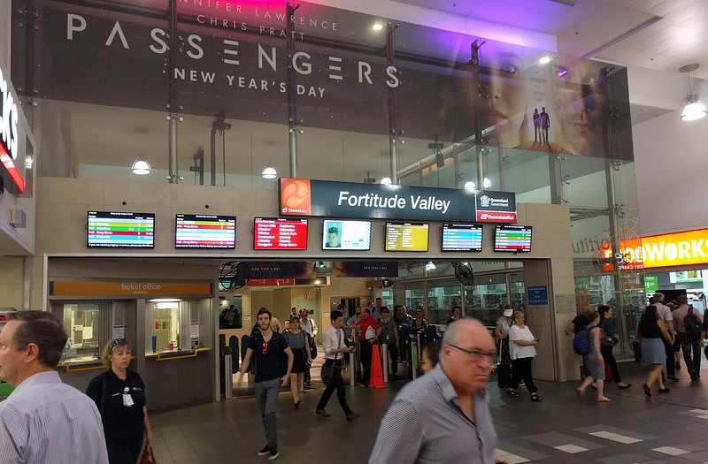 Passengers at Fortitude Valley Station