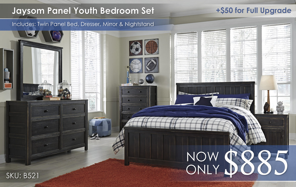 Jaysom Panel Youth Bedroom Set B521