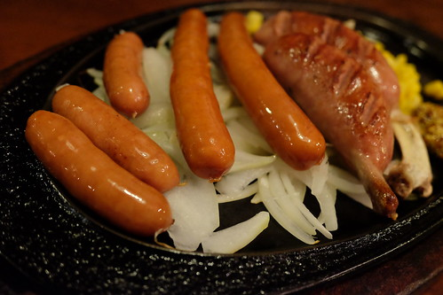 mixed sausage combination plate
