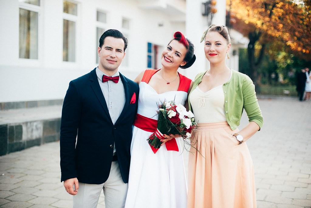 Свадебная ретро-прическа для Даши