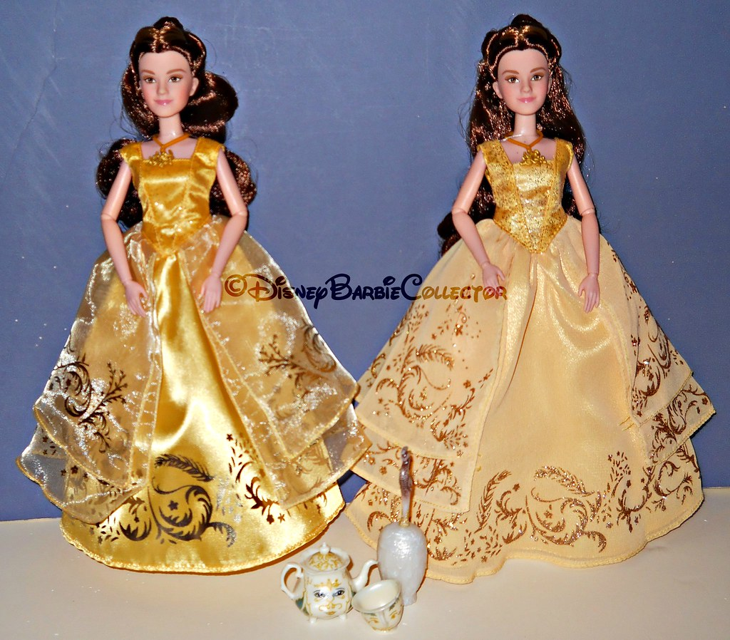 DisneyBarbieCollector Live Action Beauty And The Beast Belle Dolls Comparison