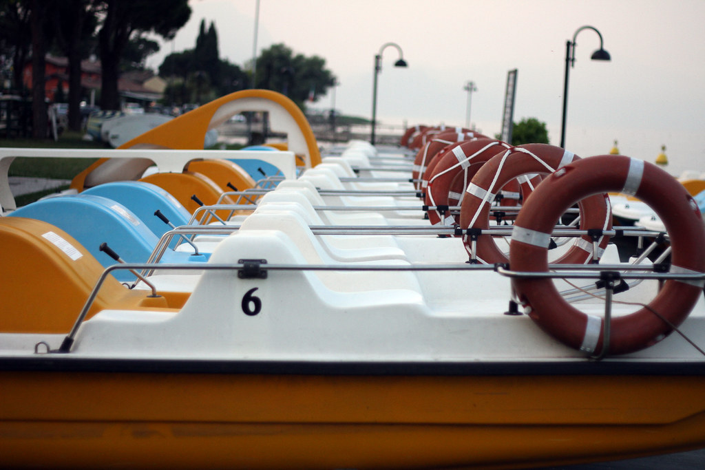 peddle boats in lake garda