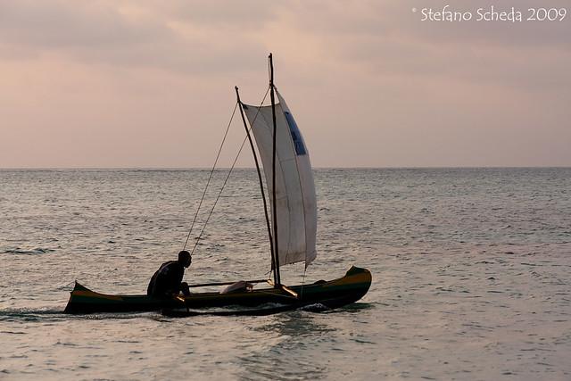 Fishing dugout - Ifaty, Madagascar