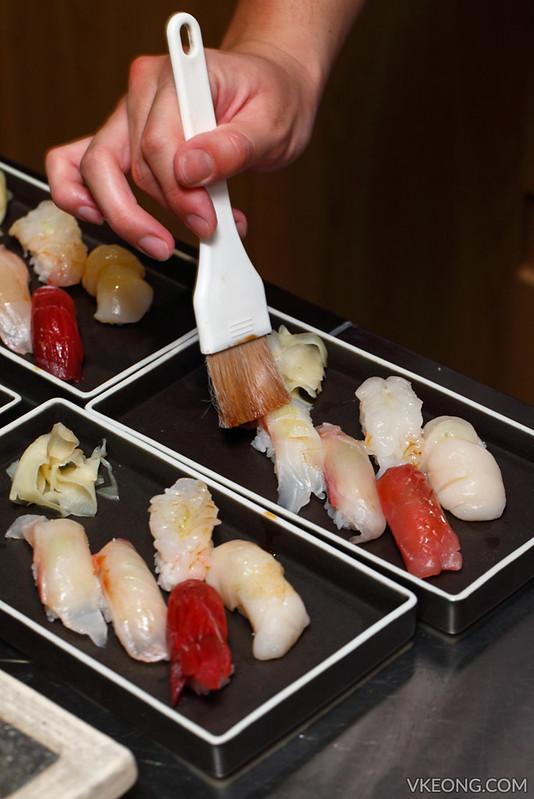 Sushi Azabu KL Brushing Nigiri