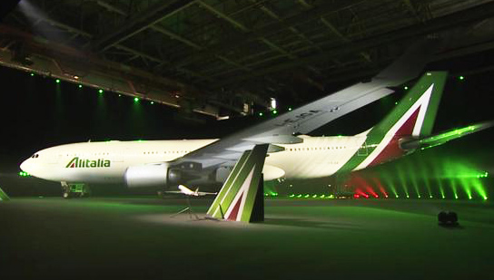 Alitalia A330-200 new livery I-EJGA (Alitalia Official youtube)