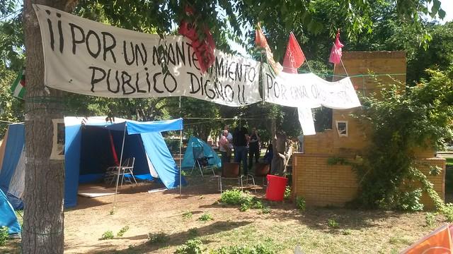 Encuentro de Fran García Parejo y Paqui López con los trabajadores de mantenimiento del Tomillar.