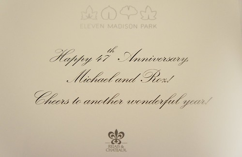 Eleven Madison Park:  Our 47th Anniversary
