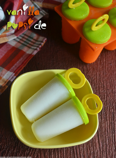 Easy Vanilla Popsicle Recipe