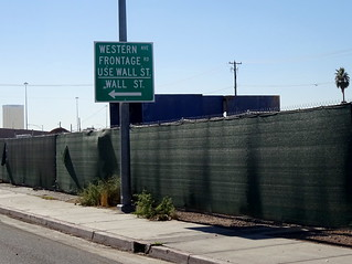 'Use Wall St.' sign along S Martin L King Blvd in northern Las Vegas.