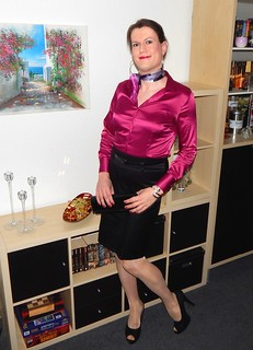 Ladies Black Satin Evening Shoes