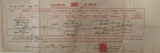 07 Birth certificate - JD3 - 28 Apr 1911 | by The Jolly Pilgrim