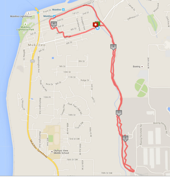 Today's awesome walk, 4.51 miles in 1:42, 9705 steps, 515ft gain