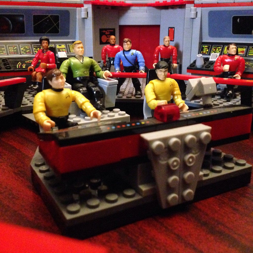 Star Trek Mega Bloks Enterprise Bridge Playset These Are T Flickr