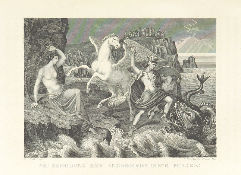 "Illustrations from ""The World Theater, or The Universal World History From Creation To The Year 1840, etc"" by C Strahlheim, 1834-41 - The Liberation Of Andromeda By Perseus"