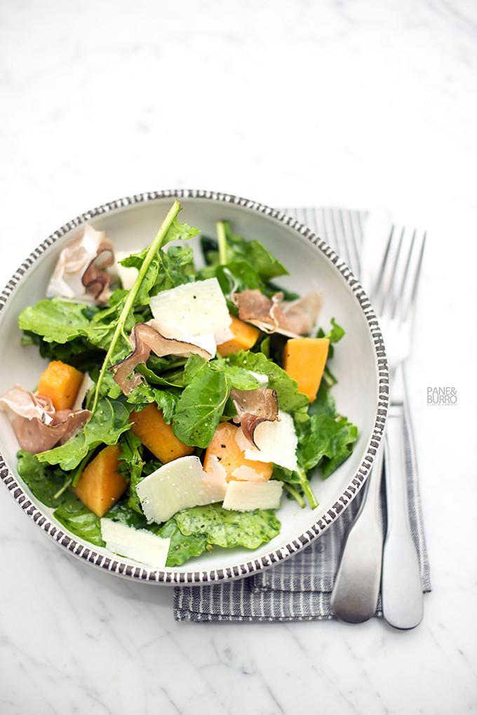 insalata rucola melone speck e grana