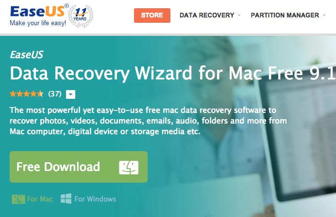 How to recover deleted files on Mac step 1