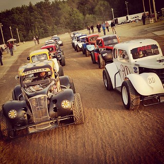 #nelcar #legendscars lined up for the #race at @beechridge tonight. #8 #HooliganMotorsports #inexlegends #legendsracing #racecars