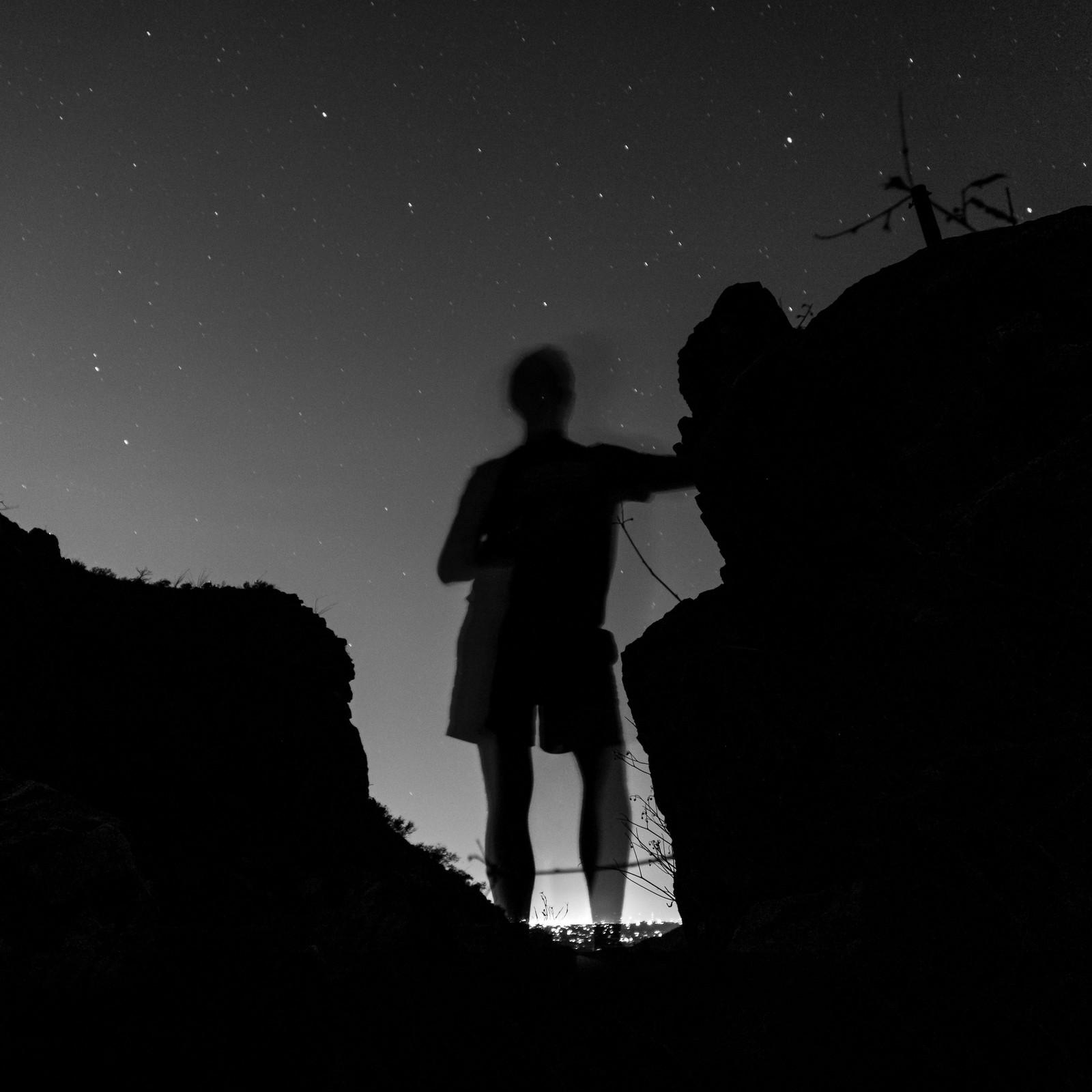 1506 Enjoying the night on the Phoneline Trail