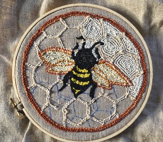 Punch needle embroidery bee | by Twill Power