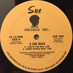 2 ON WAX:GO FOR YOURS(LABEL SIDE-B)