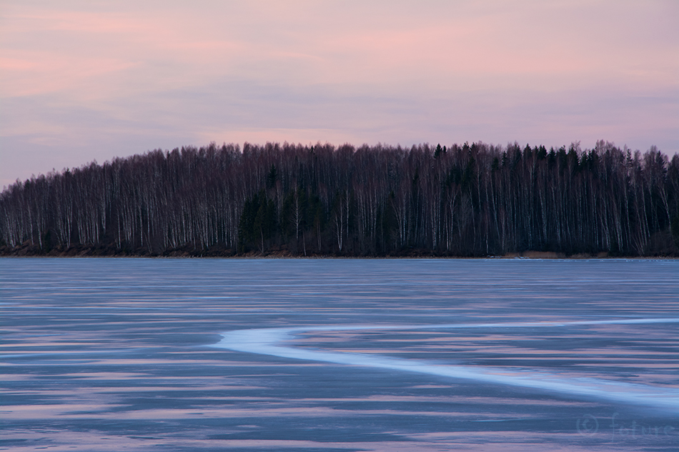 Pink, sunset, winter, Estonia, Kaido Rummel