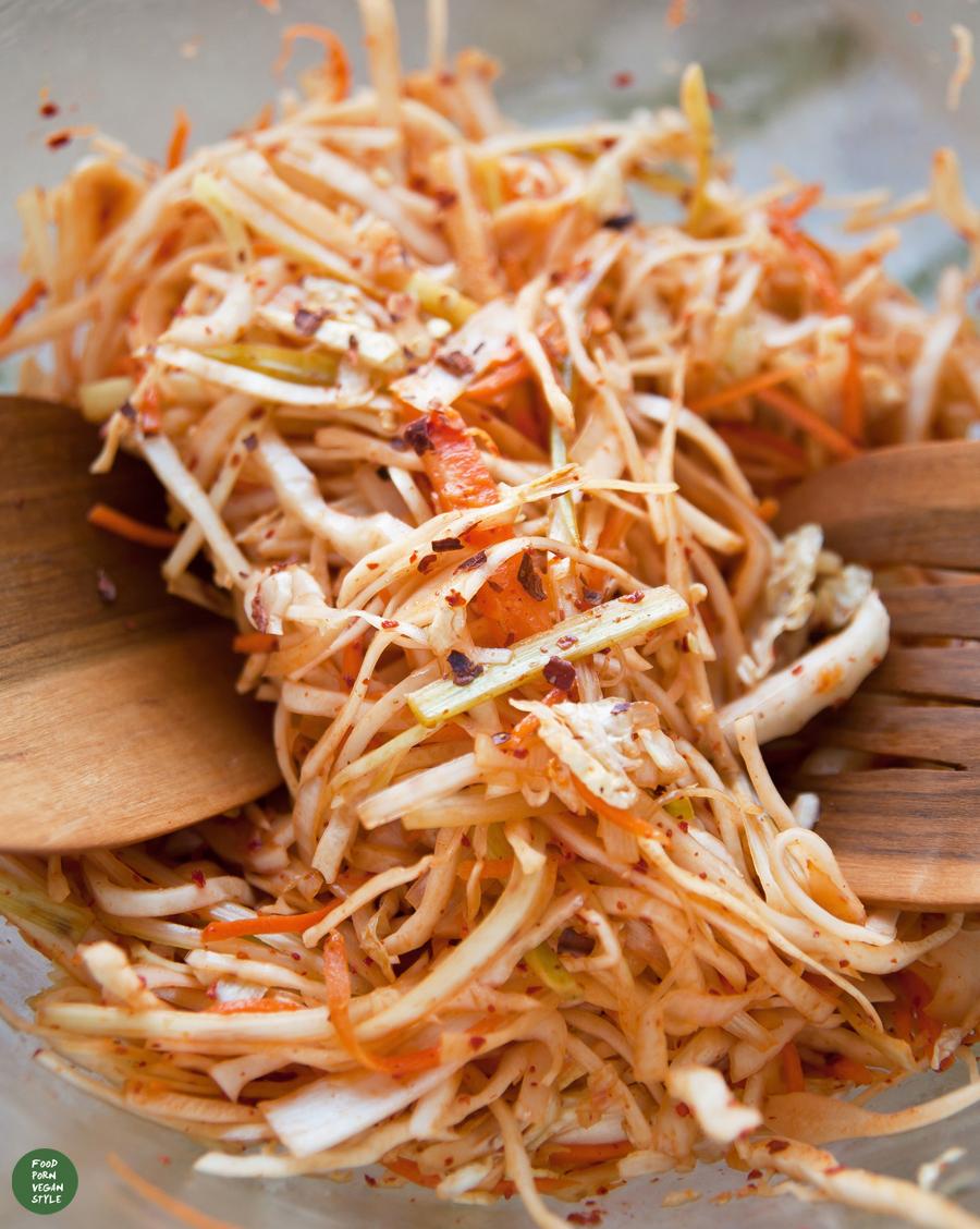 Kimchi style, cabbage slaw