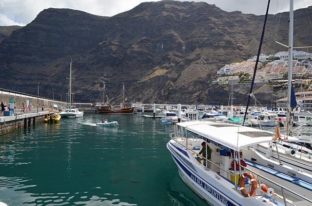 Gladiator U in Los Gigantes harbour, Tenerife