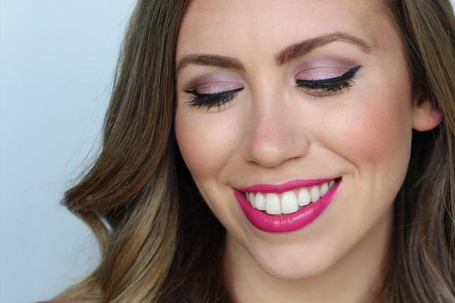 Soft Purple Eyes & Fuchsia Lip