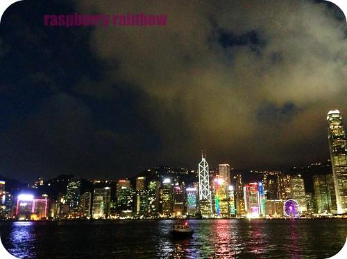 HK night time skyline.