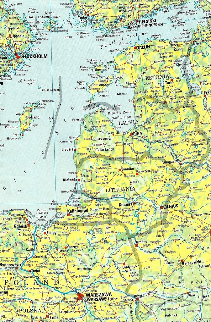 Map of Baltic States, Undated | The three Baltic States rega… | Flickr