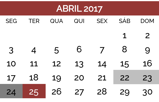 25 abril 2017