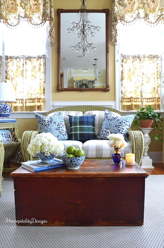 Sunroom-Blue and White-Housepitality Designs