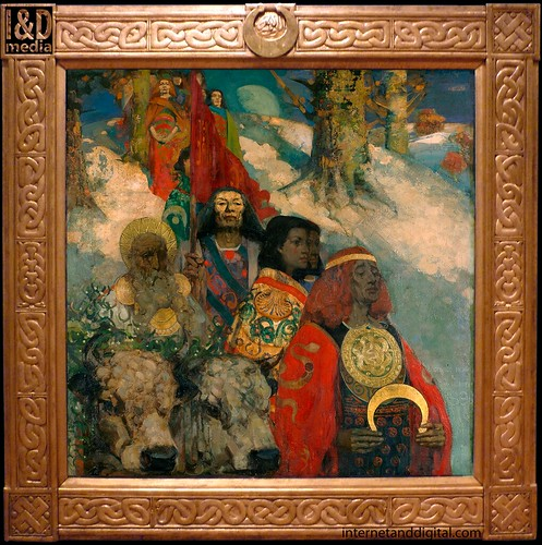 George Henry and Edward Atkinson Hornel,'The Druids: Bringing In The Mistletoe' (1890). | by Internet & Digital