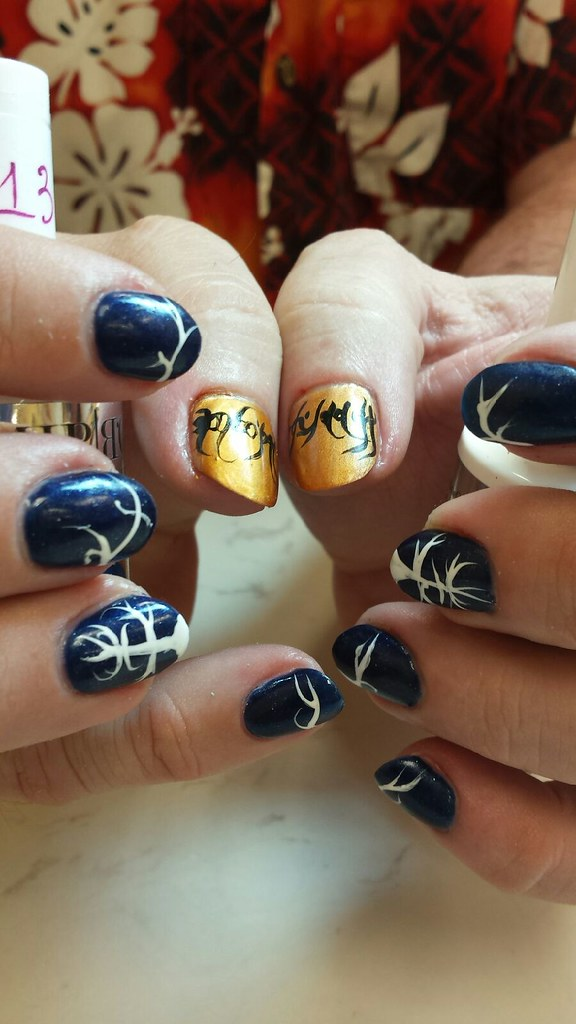 My Lord of the Rings nails, In honor of Sir Christopher Le… | Flickr