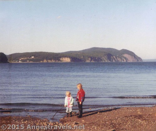 Playing at Bay of Fundy National Park, New Brunswick in 1998