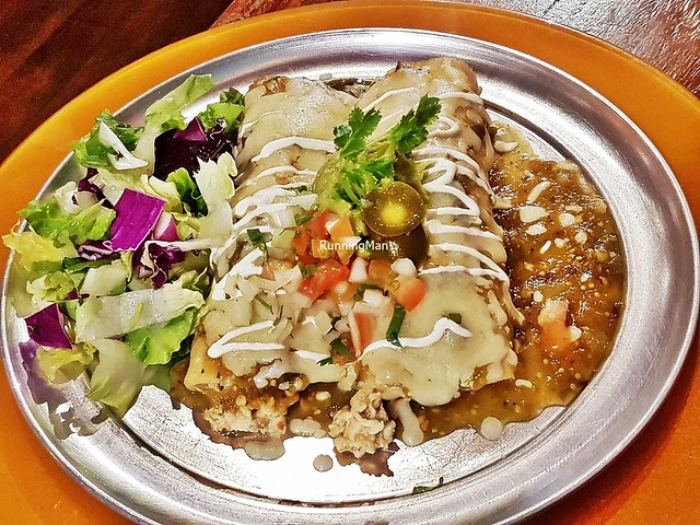 Enchiladas Chicken With Green Tomatillo Sauce