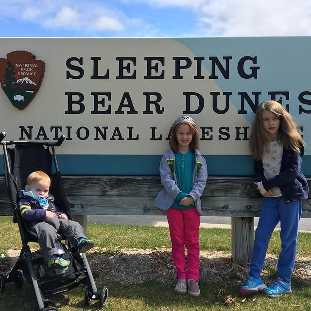 Sleeping Bear Dunes sign