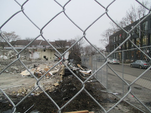 Demolition in progress, Dupont west of Lansdowne (2)