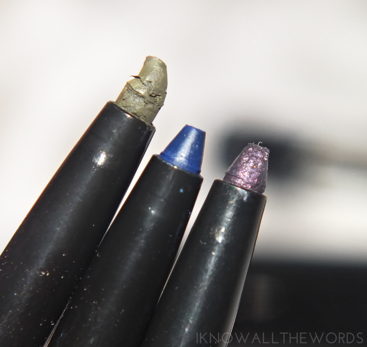 avon glimmersticks liqui-glide eyeliner in jade, navy, and black plum (2)