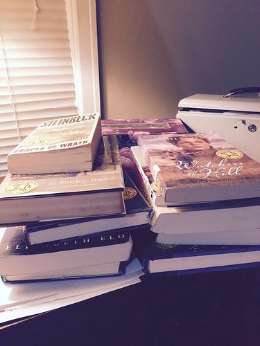 Pile of unread books = tsundoku