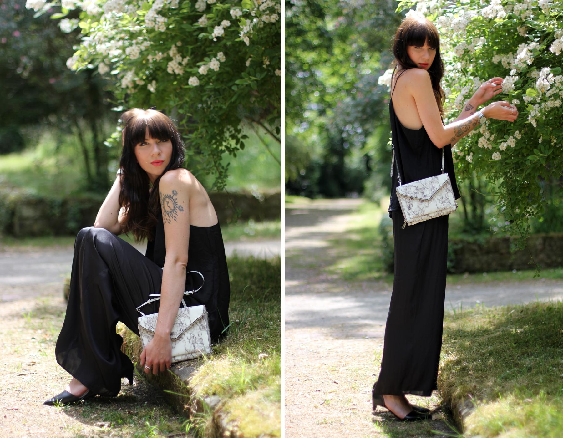black outfit summer marble bag cute rebecca minkoff shopbop cute roses fashion blogger berlin düsseldorf ricarda schernus cats & dogs blog 2