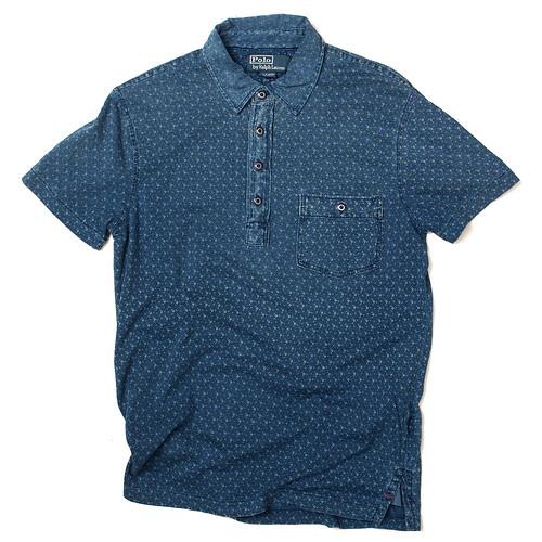 Ralph Lauren / Indigo Floral Jersey Polo