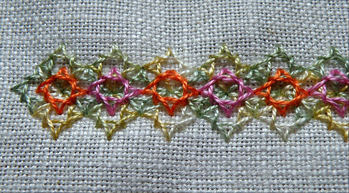 Woven Diamond Stitch Border