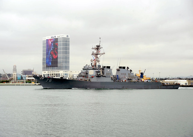 SAN DIEGO - The guided missile destroyer USS Higgins (DDG 76) returned home February 11 from a 225-day independent deployment to the Arabian Gulf, Western Pacific, and Indian Oceans.